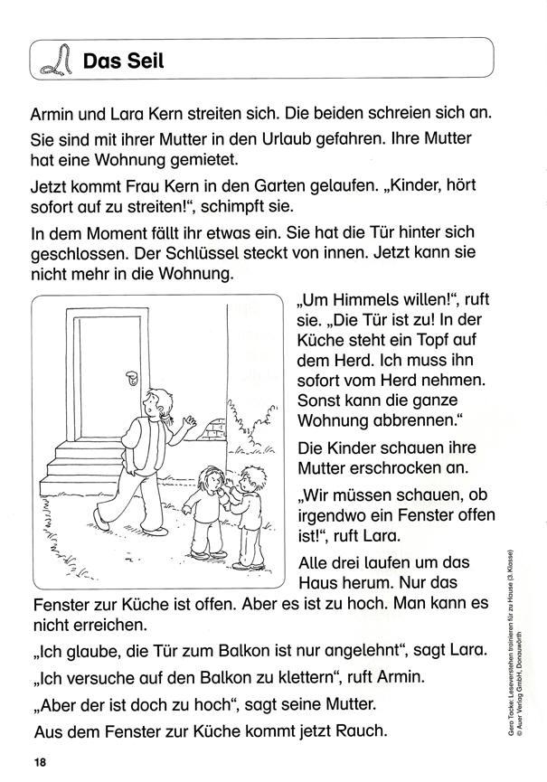 Bild Geschichte Für 4.Klasse / Grundschule